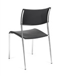 Offices To Go 1221 Armless Stacking Guest Chair with Chrome Frame