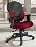 Global 1951-4 Tye Series Mid Back Tilter Chair