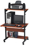 Mayline Height Adjustable Sit or Stand Computer Desk 8432SO with Cherry Finish