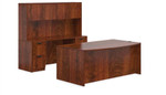 Offices To Go 7 Piece Dark Cherry Executive Office Furniture Suite
