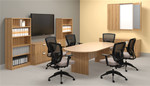 "Offices To Go 95"" Superior Laminate Racetrack Conference Table (5 Finishes!)"