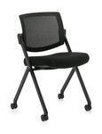 Offices To Go Armless Flip Seat Nesting Chair 11341B
