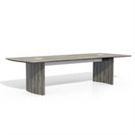 medina gray steel conference table