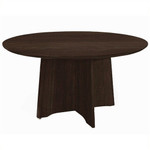 "Mayline Medina 48"" Round Top Conference Room Table with Mocha Finish"