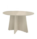 "Mayline Medina 48"" Round Top Conference Room Table with Textured Sea Salt Finish"