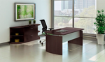 "Mayline Medina 72"" Desk with File Cabinet and Bookcases (5 Finishes!)"