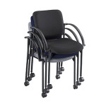 Safco Moto Mobile Stack Chair 4184 (2 Pack)