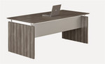"Mayline Medina 72"" x 36"" Straight Front Desk with Gray Steel Finish"