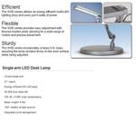 ESI Single Arm LED Desk Lamp VIVID