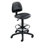 Safco Precision Extended Height Vinyl Drafting Chair 3406 with Foot Ring