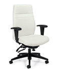 Offices To Go Modern White Leather Managers Chair