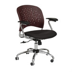 Safco Reve Faux Plastic Wood Back Task Chair