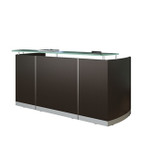 medina model mnrs modern reception desk with mocha finish