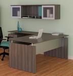 medina modern gray l-desk with hutch