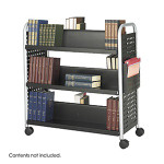 Safco Scoot Double Sided Book Cart 5335BL