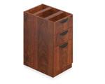 Offices To Go Superior Laminate Casegoods Desk Pedestal with American Dark Cherry Finish