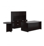 Offices To Go Superior Laminate Desk Set with Side Table SL-H (5 Finishes Available!)