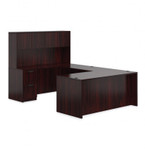 Offices To Go Superior Laminate Executive U Desk with Hutch SL-B (5 Finishes Available!)