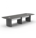 medina 14' gray steel conference table