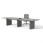 mnc14 model medina conference table with gray steel finish