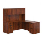Offices To Go Superior Laminate L Shaped Desk with Hutch SL-L (5 Finishes Available!)
