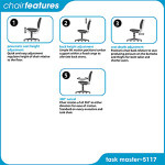 Safco Task Master Economy Industrial Chair 5117