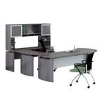 medina u-desk mnt31 with gray steel finish
