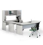 medina u-desk mnt31 with sea salt finish