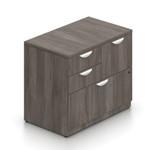 gray mixed storage cabinet