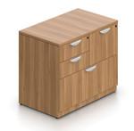 walnut mixed storage cabinet