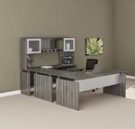 medina executive u desk mnt39 in gray steel
