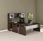 medina executive u desk mnt39 in mocha