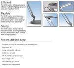 ESI Two Arm LED Desk Lamp VIVID-LE