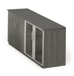 gray steel finished medina low wall cabinet