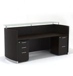 medina reception desk mnrsbf with mocha finish