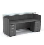 medina reception desk mnrsbf with gray steel finish
