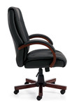 Offices To Go Wood and Leather Executive Conference Chair 11300B