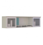 "medina 63"" wall mount hutch in sea salt"