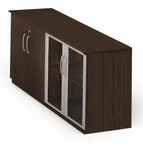 medina low wall cabinet with mocha finish