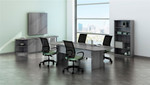 medina 8' conference room table with accessories