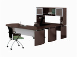 medina u-desk typical with mocha finish mnt32ldc