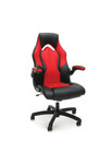 Essentials Racing Style Red Leather Gaming Chair ESS-3086 by OFM