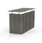 medina universal desk return in gray steel