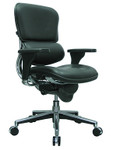 Eurotech Ergohuman Black Leather Mid Back Executive Chair LE10ERGLO