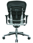 Eurotech Ergohuman Black Leather Mid Back Executive Chair LE10ERGLO