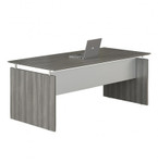 "medina 72"" floating top desk with gray finish"