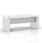 "medina 72"" floating top desk with sea salt finish"