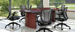Global 8' Racetrack Conference Table with Contemporary Style