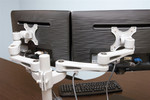 OFM Dual Screen Clamp Mount Monitor Arm MON-C-DBL-SVR