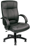 Eurotech Odyssey Black Leather Executive Office Chair LE9406
